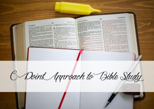 6 Pt Approach to Basic Bible Study